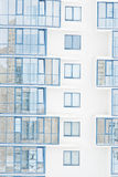 Blue window frames of a building Royalty Free Stock Photography