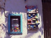 Blue, Window, House, Art stock image