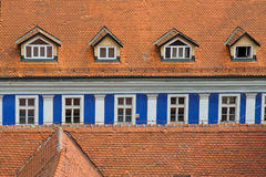 Blue Window Line Royalty Free Stock Photo