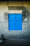 The blue window. Stock Photography
