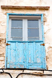 Blue window in morocco    africa Royalty Free Stock Photo