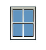 Blue window vector illustration