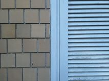 Blue window shutter Stock Photos