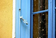 Blue window shutter Royalty Free Stock Image