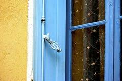 Blue window shutter royalty free stock image