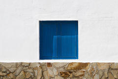Blue Window And Wall Royalty Free Stock Image