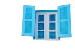 Blue window. On white background isolate Stock Image