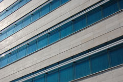 Blue Windowed Building Royalty Free Stock Photo