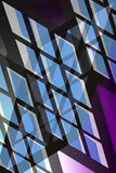 Blue Windows. Multiple blue and magenta abstract windows on black background vector illustration