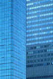 Blue windows. Skyscrapper with blue windows royalty free stock photo