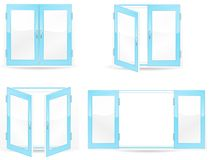 Blue windows Royalty Free Stock Image