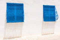 Blue windows Royalty Free Stock Image