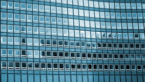 Blue Windows. Windows of office building Royalty Free Stock Photography