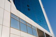 Blue windows. Outside of modern bulding Stock Photos