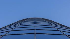 Blue Windows. Blue Clear Sky reflected on Windows stock photos