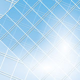 Blue windows on modern buildings - vector Royalty Free Stock Photography