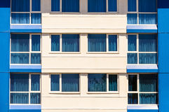 Blue windows Stock Photo