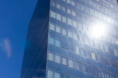 Blue windows of the new business center Royalty Free Stock Photos