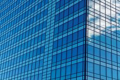 Blue Windows in Office Block Royalty Free Stock Photos