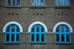 Blue windows. Stock Photo