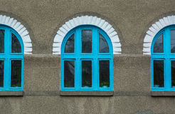 Blue windows. Royalty Free Stock Images