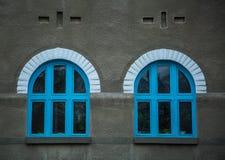 Blue windows. Stock Photos