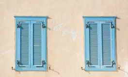 Blue windows - Oriental style Stock Photo