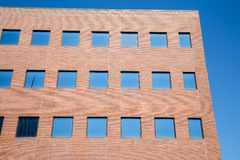 Blue Windows in Red Brick Royalty Free Stock Photo