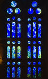 Blue windows in Sagrada Familia Royalty Free Stock Image