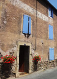 Blue window house, Provence, Stock Photography