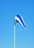Blue windsock. Stock Image