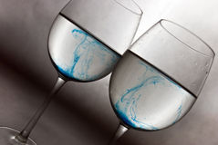 Blue wine Royalty Free Stock Photo