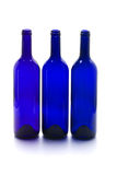 Blue wine bottles Royalty Free Stock Photos