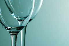 Blue wine glass Royalty Free Stock Image