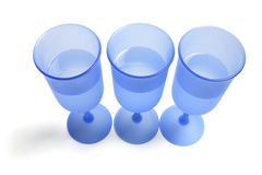 Blue Wine Glasses Stock Image
