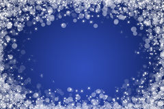 Blue winter abstract background Royalty Free Stock Images