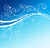 Blue winter abstract background Stock Image