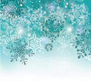 Blue winter abstract Christmas Background. Vector illustration Stock Image