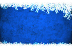 Blue winter background. Useful as Christmas background with space for text or mage Stock Photography