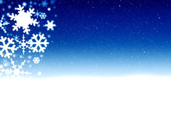Blue winter background. With snowflakes and stars vector illustration