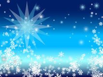 Blue winter background Royalty Free Stock Photography