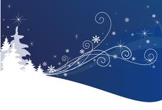 Blue Winter Background. A beautiful snowy background of winter in blue color Stock Photos