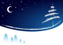 Blue winter background Stock Images