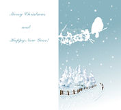 Blue winter background with bird Royalty Free Stock Photography