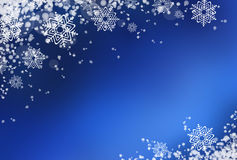 Blue winter background with snow Royalty Free Stock Photo