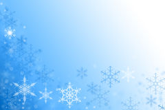 Blue winter background with snowflake texture. Blue winter background with snowflake ornaments, text space Stock Images