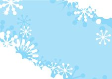 Blue winter background with snowflakes Stock Photo