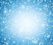 Blue winter background with snowflakes. Abstract blue winter background with snowflakes royalty free illustration