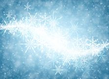 Blue winter background with snowflakes. Blue luminous winter background with whirl of snowflakes. Vector illustration Royalty Free Stock Image