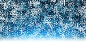 Blue winter background with snowflakes. Blue winter background with pattern of snowflakes. Vector illustration Royalty Free Stock Images